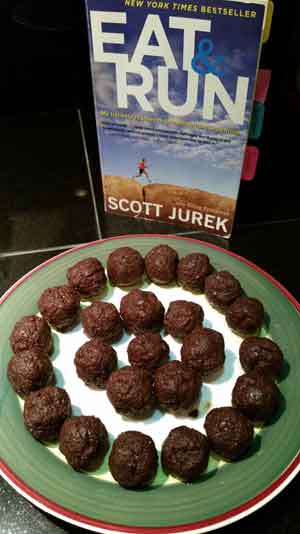 chocolate energy balls, feuling for long runs, trail running